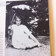 Tasha Tudor (as a child) and Rhubarb leaf parasol