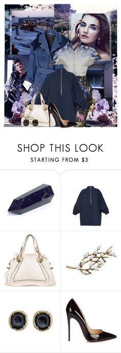 """""""Models: Aline Baikova"""" by katieci ❤ liked on Polyvore featuring Manish Arora, American Eagle Outfitters, Christian Louboutin, DK, Marni and Kimberly McDonald"""