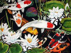 Koi Pond  Koi Paintings and Prints by Kendahl Jan Jubb