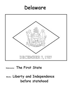 Delaware State Flag Coloring Page