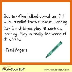 Play is so important for children, but it's so often devalued.
