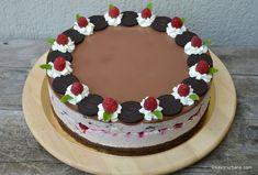 Oreo cheesecake with raspberries and chocolate, without baking - Hanna Cake Cheesecake Cupcakes, Cheesecake Recipes, Kiwi, Cake Videos, Cheesecakes, Nutella, Caramel, Raspberry, Sweet Treats