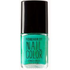 FOREVER 21 Emerald Jewel Nail Polish ($2.80) ❤ liked on Polyvore featuring beauty products, nail care, nail polish, nails, makeup, beauty, fillers, jelly bean, forever 21 nail polish and shimmer nail polish
