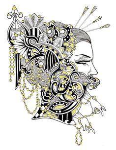 Sebastiana by M. de Vena #illustration #drawing