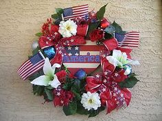 Red,White and Blue Wreath