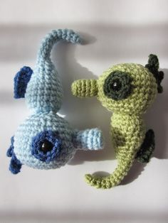 amigurumi seahorse free pattern by Instructables (I will make a crochet ocean someday...)