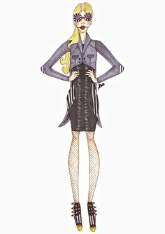 Dead Hard Candy (S.E.W Fashion F/W 2014)by Sophie Whitely Look 4:Short Tailcoat with styled knit dress. Some Inspirations from the movie &...