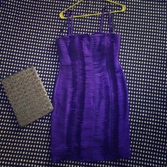 Calvin Klein purple tube dress. NWT Gorgeous, form-fitting dress. Can be worn without straps. Fully lined and padded in the breast area. Super classy. New! Calvin Klein Dresses Strapless