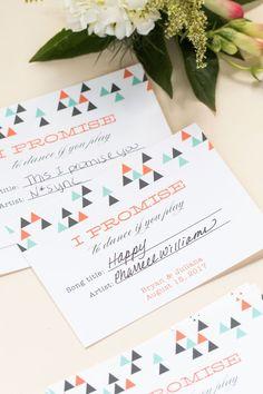 Song Request Cards, wedding favor ideas, cheap wedding ideas, dance cards, evermine, evermine blog, evemine.com
