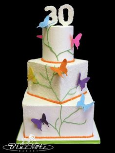 30th Birthday Butterfly Cake 30thbday