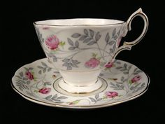 Royal Albert Cup & Saucer ~ Conway Pattern ~ c. 1940's in Pottery & Glass, Pottery & China, China & Dinnerware | eBay