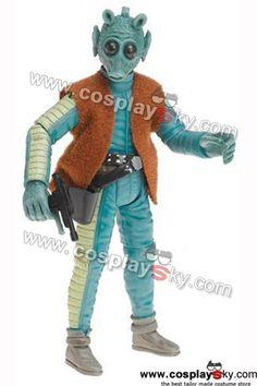 #cosplay #cosplaysky #starwars #disfraz Star Wars Greedo Costume Jumpsuit Vest Cosplay-5