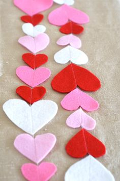Felt Valentine Heart and Polka Dot Garland Pattern by Sew Love The Day on Etsy, $3.00