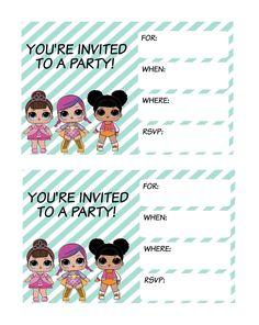 L.O.L. dolls party printables