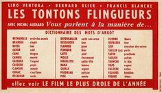 """comprendre les dialogues des """"Tontons flingueurs"""" in  l'Expo Gaumont & Merveilles : retour sur 120 ans de cinéma français."""