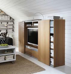 Mooi schuifdeur systeem voor TV kast. Opbouw en minimaal zichtbaar.