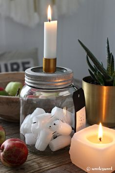 diy stumplysestake // diy candle holder in a jar | wonderwood