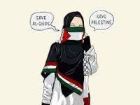 Gambar Kartun Muslimah Bercadar Save Palestina Gambar Gambar Kartun Kartun