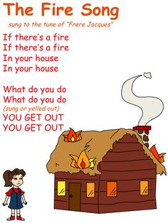 Fire Song for children to learn and sing in celebration of Fireman Day or Fire Safety Week. Preschool Fire Safety, Fire Safety Crafts, Fire Safety For Kids, Fire Safety Week, Preschool Friendship, Preschool Poems, Kindergarten Songs, Kids Poems, Nursery Activities