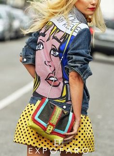 Wow love this look- Street Style At Milan Fashion Week Spring/Summer 2014 / Photography By NAM Milan Fashion Week Street Style, Look Street Style, Milano Fashion Week, Summer Fashion Trends, Pop Art Fashion, Fashion Show, Supergirl, Mode Pop, Estilo Pin Up