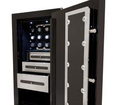 The Man Safe 4018 offers plenty of storage for watches and jewelry, along with shelf space for larger items, all in a package perfectly sized for most spaces and needs.
