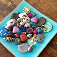 Bead selection for the blessing necklace - although I really wish guests would bring their own.