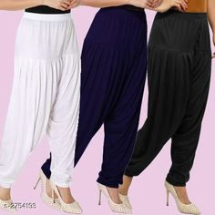 Ethnic Bottomwear - Patiala Pants Fabulous Viscose Women's Patiala Pants Combo Fabric: Viscose Waist Size : XL - Up To 24 in To Up To 32 in XXL - Up To 26 in To Up To 34 in Length: Up To 40 in Type: Stitched Description: It Has 3 Pieces Of Women's Patiala Pants Pattern: Solid Country of Origin: India Sizes Available: XL, XXL   Catalog Rating: ★4.1 (838)  Catalog Name: Kamal Fabulous Viscose Women's Patiala Pants Combo Vol 1 CatalogID_373404 C74-SC1018 Code: 974-2754193-4221