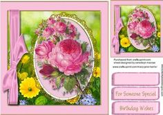 Beautiful Lilac roses in a Ornate Frame  on Craftsuprint - Add To Basket!