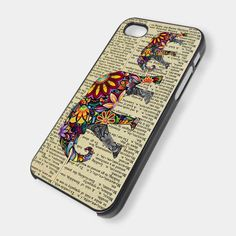 Mum and baby elephant on Dictionary for iPhone 4/4s/5/5s/5c, Samsung Galaxy s3/s4 case