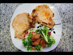 Recetas de cocina. Chuletas de cerdo con mantequilla y salvia