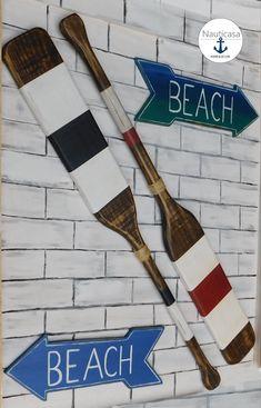 Twin Remo Decoração De Parede Branco E Azul Casa De Praia Escultura De Parede Remo Náutica