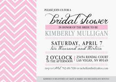 Chevron Bridal Shower InviteDigital by KLacapra on Etsy, $15.00