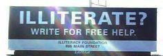 Illiterate???
