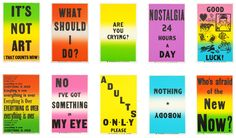 Allen Ruppersberg Preview Suite prints, set of ten color posters with text