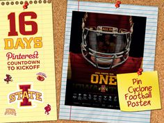 16 Days! Find a Cyclone football poster and pin it for today's #CycloneFBScavengerHunt