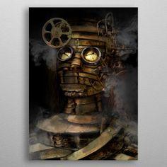 Creation of cyberpunk and stea. by Sylvain Gauci Wall Art Prints, Poster Prints, Canvas Prints, Posters, Steampunk Artwork, Print Artist, Cool Artwork, Cyberpunk, Buy Art