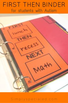 FIRST, THEN, NEXT all sorts of schedules are included in the simple success student binder! Get your autism classroom, behavior, or special education students on track today!