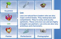 Zodiac Trait Pack Virgo Trait Virgos are the kings and queens of overthinking and try their best to master everything their talents. They're highly selective and love hard when they do love. Sims Love, Sims 3, Sims Traits, Tumblr Sims 4, Sims 4 Cas Mods, The Sims 4 Packs, Sims 4 Gameplay, Sims4 Clothes, Sims 4 Characters
