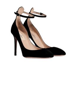 classic and lady-like: Valentino's suede ankle strap pumps