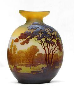 Emile GALLÉ vase Art Nouveau vers 1908