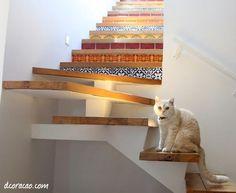 dcoracao.com - blog de decoração: Escada com bossa