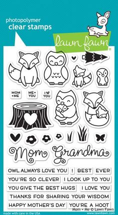 Lawn Fawn - Mom & Me Stamp Set