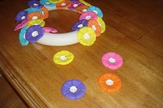 Water Bottle Flower Wreath- depending on the colors you choose it could be for any holiday.
