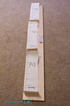 Decals for ruler growth chart