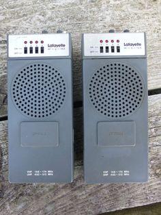 (2) Vintage Lafayette HI-U-100 Crystals VHF UHF Hand Held Radios Walkie Talkies  #Lafayette