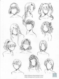 Another practice of hairstyles, now, with some large styles :,33 , (yes! <3 you can use these styles :3)And please, if you use this ref- put the link! in my DA or this Art ;w;Thanks you and have...