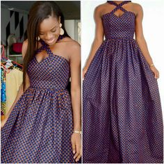 Unique Maxi Ankara is the most trending Ankara Styles for the Ladies to showcase how Unique they are. African Maxi Dresses, African Wedding Dress, African Print Fashion, Tribal Fashion, African Wear, African Attire, Latest Fashion Dresses, Fashion Outfits, Kente Styles