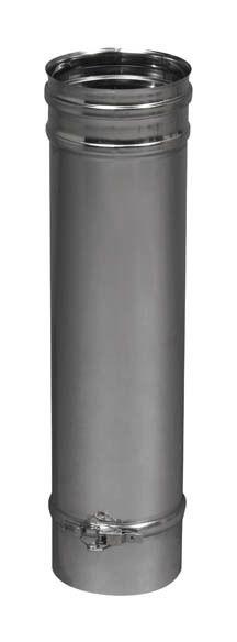 """4 /"""" 2m flexible Tuyau de cheminée en acier inoxydable La peau unique gaz de fumée liner 100mm"""
