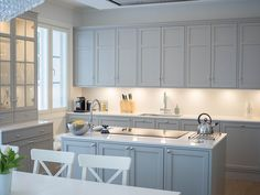 New Kitchen, Kitchen Dining, Kitchen Cabinets, Old Town Apartments, Home Kitchens, Table, Room, House, Furniture