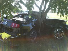 muscle car crash  | Crashed Muscle Car